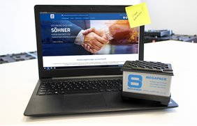 The new Söhner shop for transport packaging products: refreshing design and very user-friendly