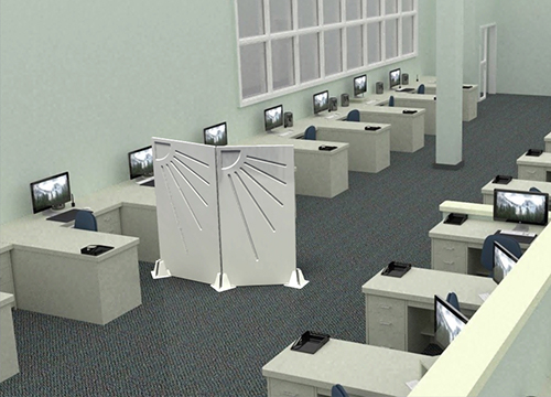 Room seperator STANDARD in open-plan offices