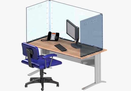 Desk separator DeskProtect CLEAR