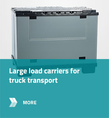 Large load carriers for truck transport