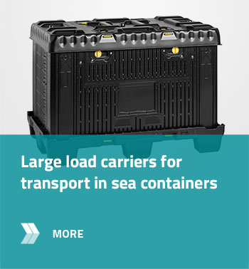 Large load carriers for transport in sea containers