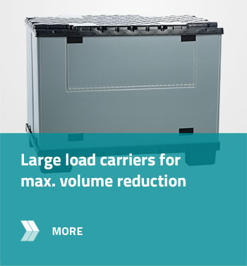 Large load carriers for max. volume reduction